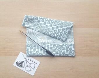 The checkbook cover - celadon Green