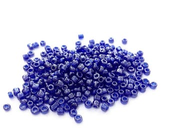 10gr rock ♥ Navy blue glass Pearl 2mm♥