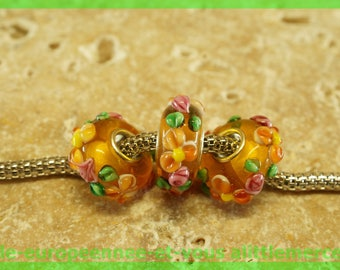 Has HQ1129 European glass bead for bracelet necklace charms