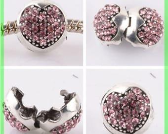 Pearl N958 clip stopper European blocker rhinestones for charms bracelet