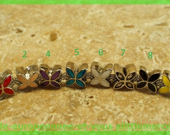 Pearl European N130 N2 flower spacer for bracelet charms