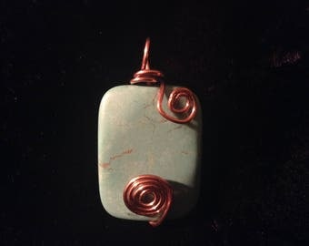 Rectangle 13 Turquoise Pendant