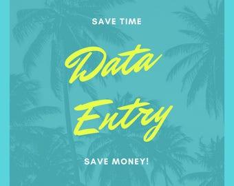 Data entry!!