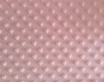 Rose Pink Minky fabric