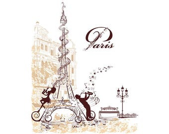 ORIGINAL design, durable and WASHABLE PLACEMAT - Paris 3 - classic holiday.