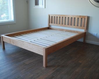 Rustic Wood Minimalist Bed Frame Twin Full Queen King