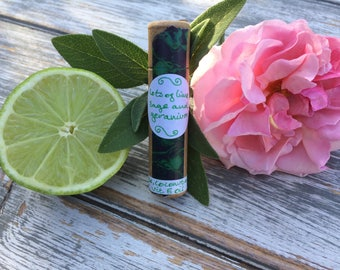 Lots of lime, sage and geranium lip balm