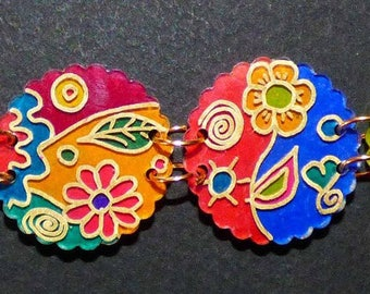 Bohemian bralecet flowery shrink plastic