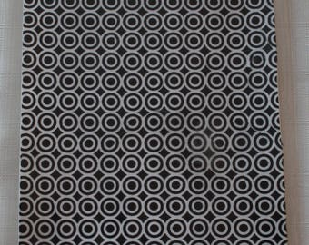 foam sheet decorated black and white circles