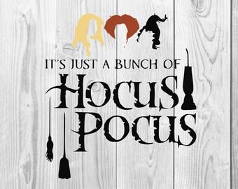 Hocus Pocus SVG, Hocus Pocus DXF cutting file, Printable, T-shirt Design, Scrapbooking Clipart