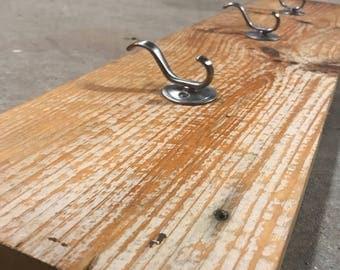 Repurposed Natural Wood Coat Hooks