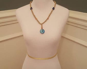 Blue Hemp Necklace