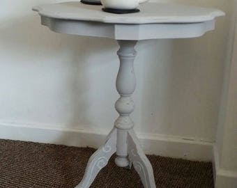 Vintage Dove Grey Shabby Chic Side Table Upcycled
