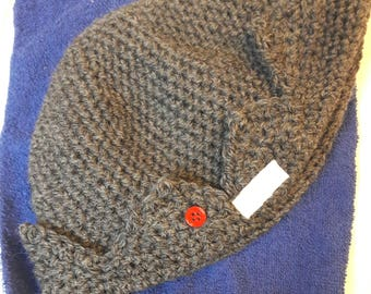 Jughead beanie hat crochet Riverdale inspired charcoal gray great for teen Halloween costume ships in 1-3 days