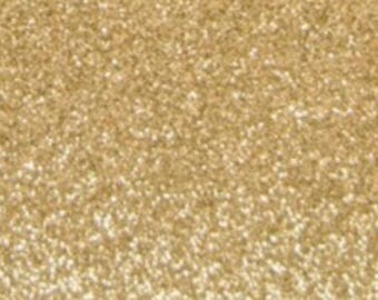 Glittery gold Flex fusible fabric clear 10x15cm