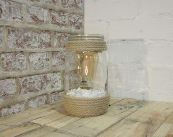 Mason Jar Lamp - Small
