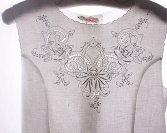 vintage hand embroidery linen dress