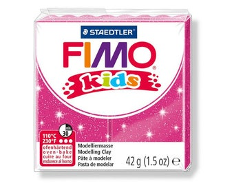 Polymer kids pink glittery number 262