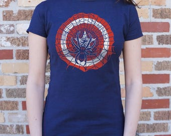 Captain America And Spiderman Girl Shirt