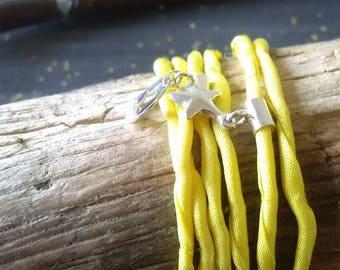 """Pampering"" silk cord bracelet"