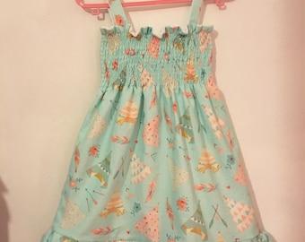 Lucy & Lola Shirred Ruffle Dress (Your choice of fabric!)