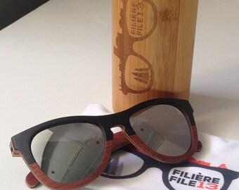 File13 - Gravity Wooden Sunglasses - MIRROR - UV400 - Polarised