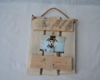 Photo frame made from reclaimed wood