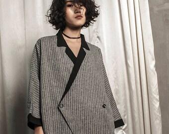 Freesize striped blazer