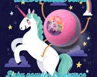 Unicorn Bath Bomb | Bath Bombs For Kids | Rainbow Bath Bomb | Baby Powder Scent