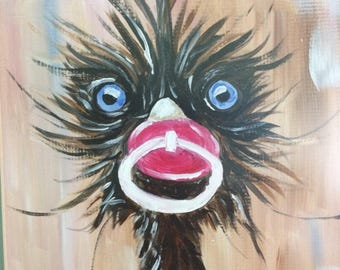 BABY SYSTER, emu, animal painting