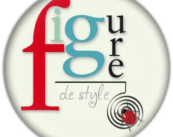 "Badge rond 32mm ""Figure de style"""