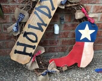 Texas Wreaths HOWDY
