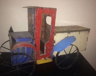 Recycled Metal Imported, Jalopy Truck Ice Cooler / Chest