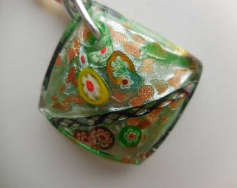 Diamond multicolor Lampwork and glass beads