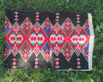Hand-embroidered bulgarian pillowcase, Vintage Handmade Pillowcase, Bulgarian Embroider Rug