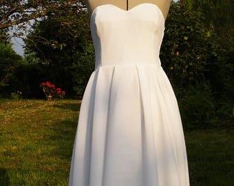 Strapless heart shaped wedding dress - model Julia