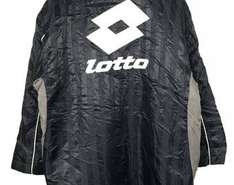 Rare!!! Lotto Long Jacket / Parkas / Hoodie Big Logo Spellout Embroidery Double Pockets Multicolors