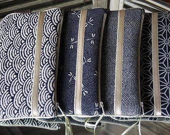 byZoon - album M keiko collection - indigo patterns fabric Japanese.
