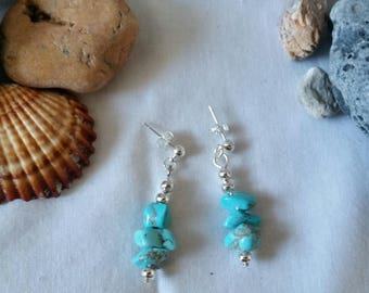 Turquoise cip earrings