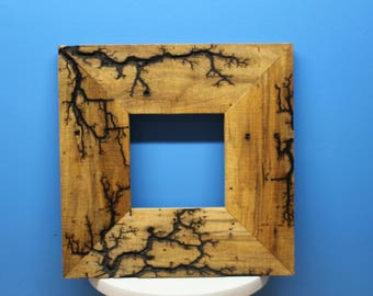 Reclaimed Wood Frames, Electrified and Handmade