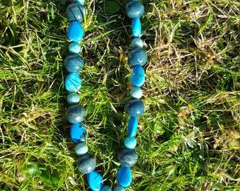 Amazonite Sea Shell Necklace