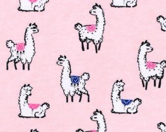 llama, llama prints, llama fabric, fabric by the yard, flannel by the yard, flannel fabric, girl fabric, llama print, llama flannel fabric,