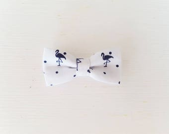 "Barrette large bow tie ""marine Flamingo"""