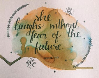 8x10 Proverbs 31 Watercolor, Frame Included