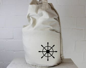 Duffel bag Steurrad, nautical, Flex print