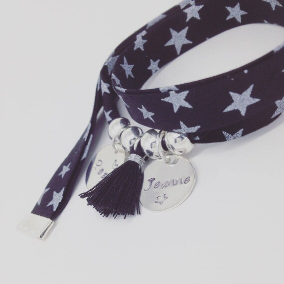 Bracelet GriGri XL Liberty with 2 custom ENGRAVINGS and tassel by Palilo Rock