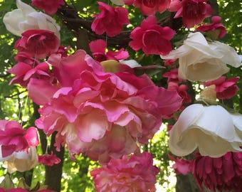Flower Mobile, Nursery Decoration, Chandelier, Wedding Decoration, Home Decoration, Baby Shower, Rustic, Girl, Pink, Ivory