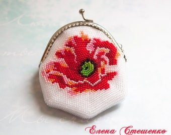 "Purse for coins ""Red Poppy"