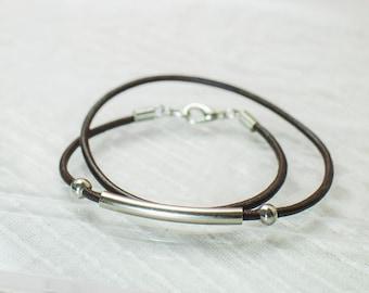 Leather chord handmade bracelet