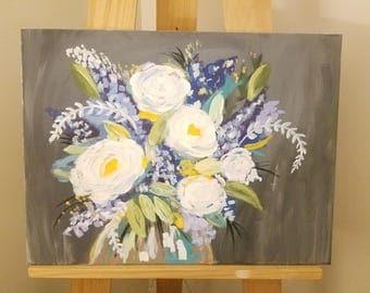 Bountiful Bouquet-Canvas Acrylic